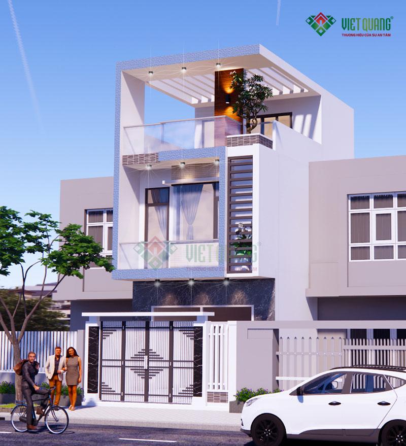 Mẫu thiết kế nhà phố 3 tầng 5x15m