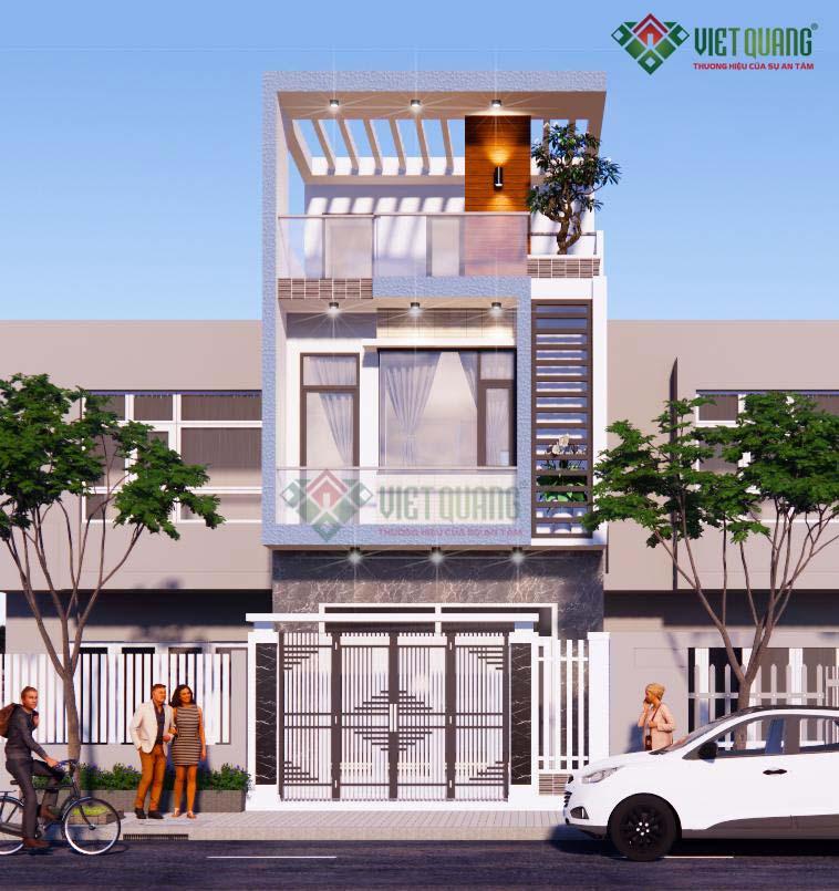 Mẫu nhà phố 3 tầng đẹp, hiện đại - 35