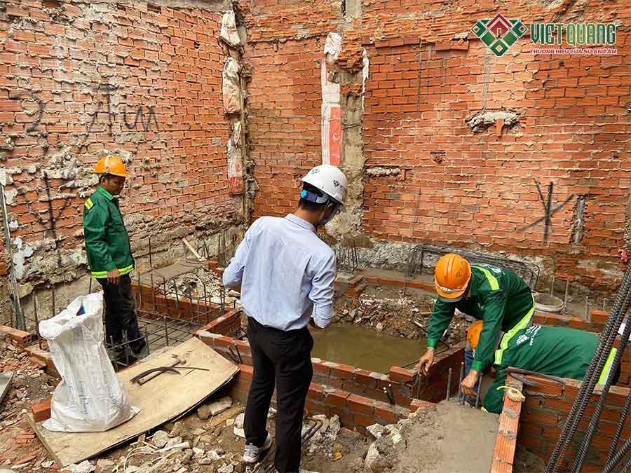 Xây dựng nhà phố anh Định quận Bình Thạnh
