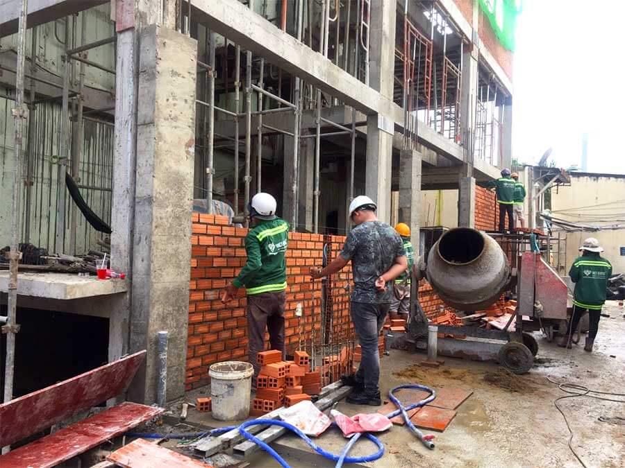 Khởi công xây dựng nhà phố 6 tầng anh Nhân quận Bình Thạnh