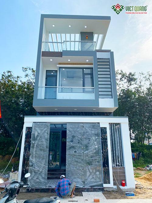 Xây dựng nhà phố 3 tầng anh Nam tại Bình Dương