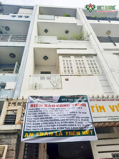 Việt Quang đã thi công sửa chữa nhà anh Thọ tại quận 2
