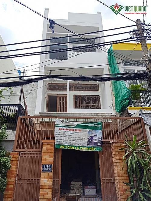 Việt Quang thi công sửa nhà nâng tầng ngôi nhà phố 2 tầng thành 4 tầng của gia đình anh Phú tại quận Tân Phú năm 2020