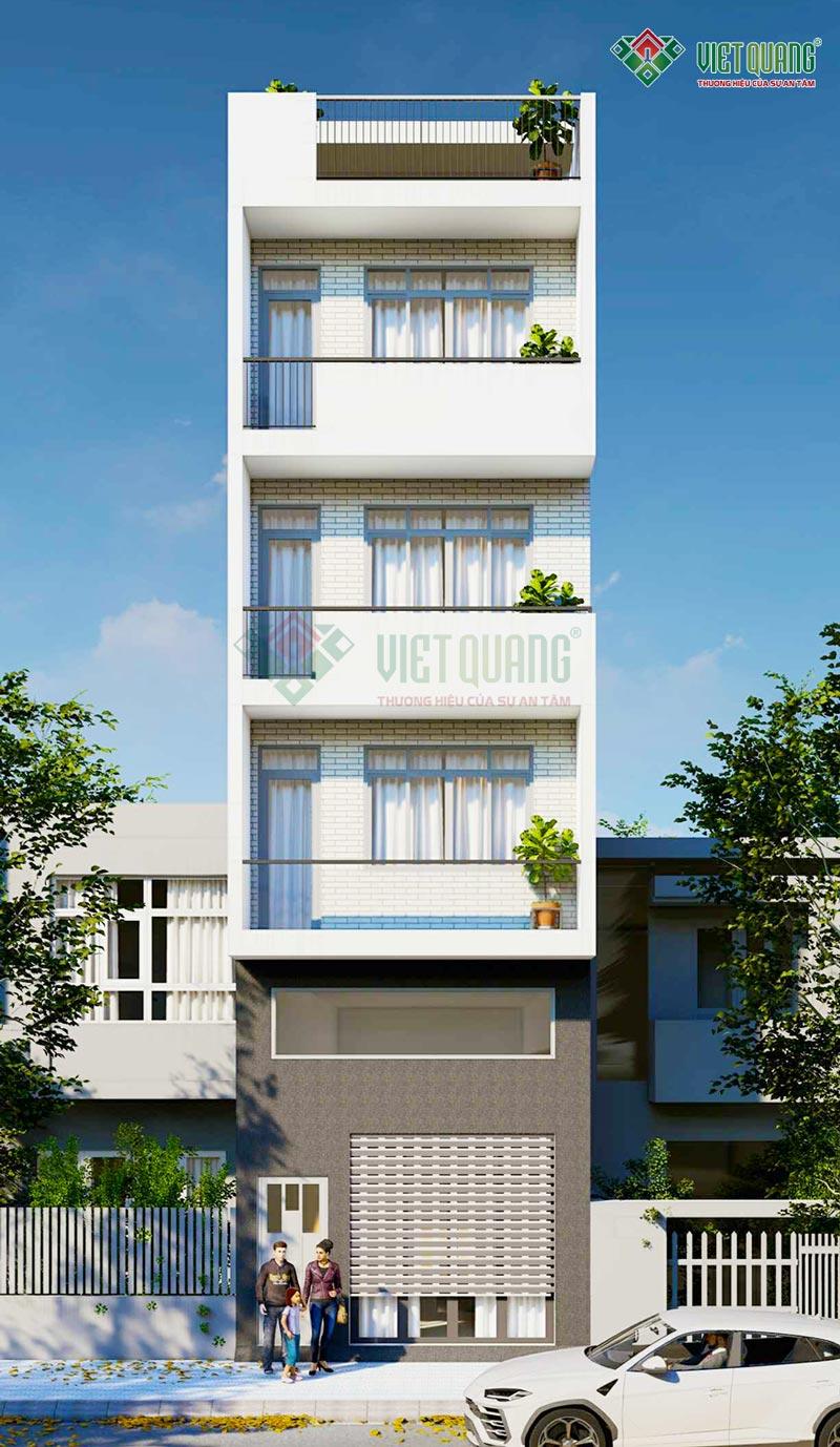 Thiết kế nhà phố 4 tầng 1 lửng diện tích 5×17.5m