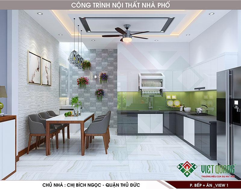 Mẫu thiết kế nội thất bếp đẹp 11