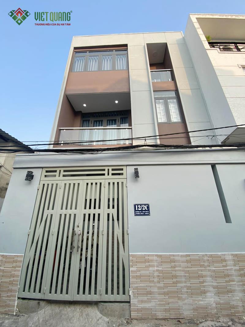 Xây nhà phố 3 tầng 70m2 – Nhà chị Trúc quận 9