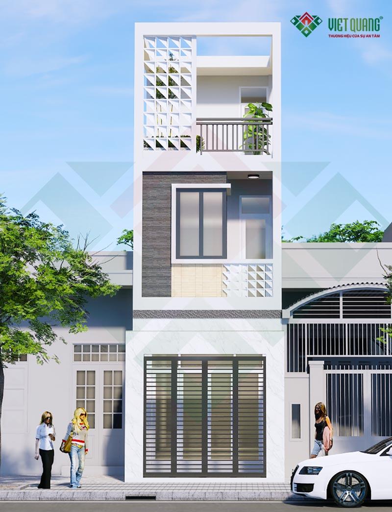 Mẫu nhà phố 3 tầng đẹp hiện đại – 02