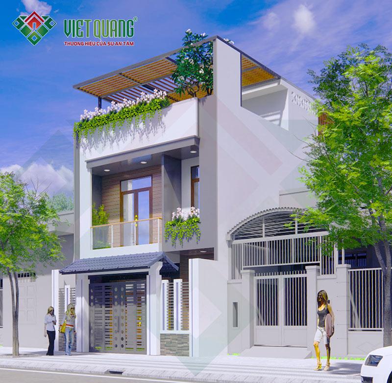 Mẫu thiết kế nhà phố 3 tầng diện tích 7 x 13m tại quận 9