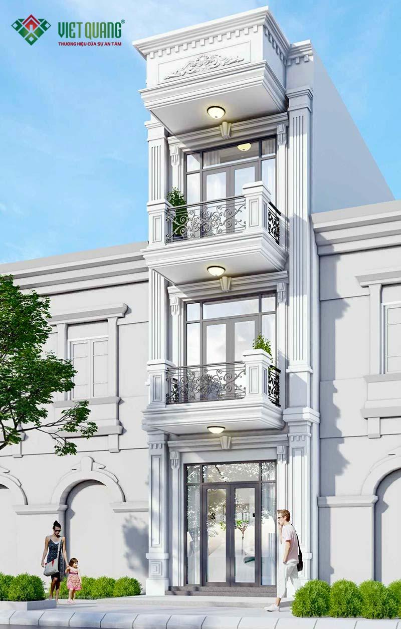 Thiết kế nhà phố tân cổ điển 3 tầng đẹp – 04