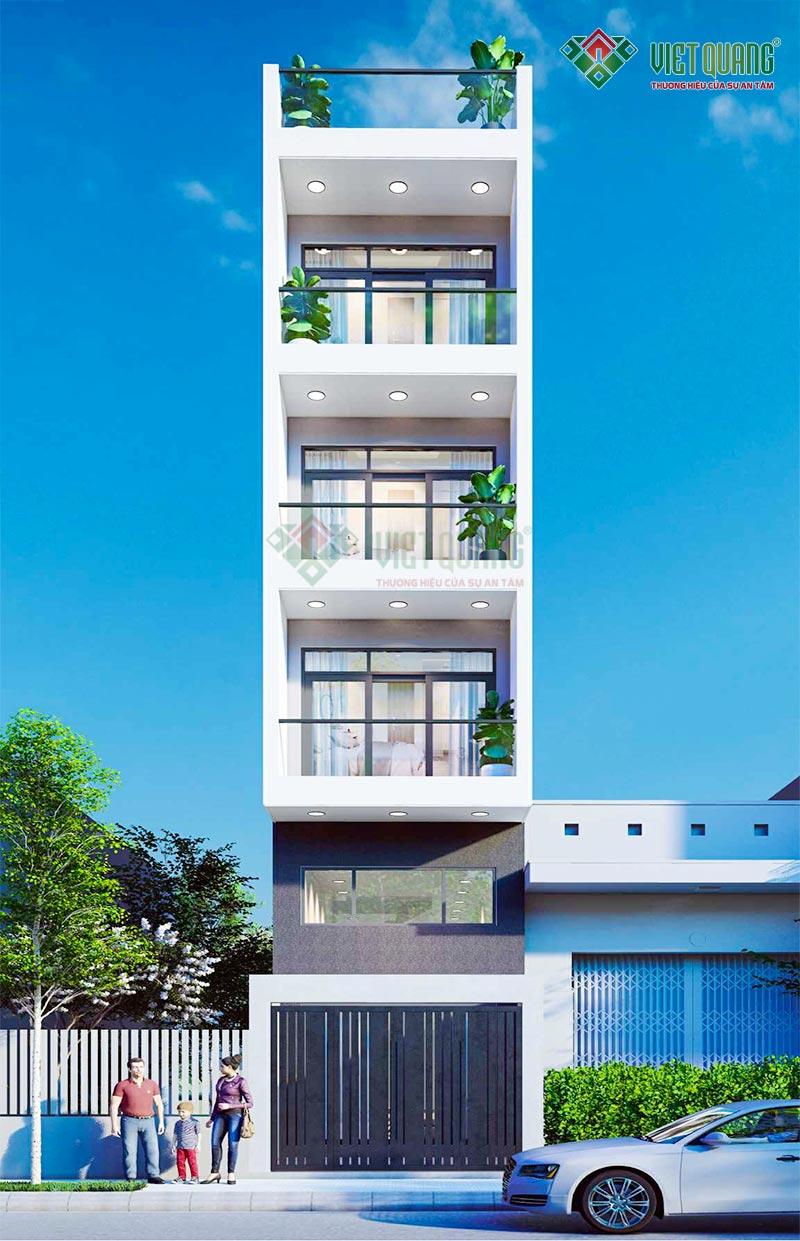 Mẫu thiết kế nhà phố 5 tầng hiện đại – 03