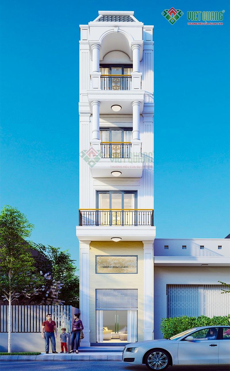 Thiết kế nhà phố tân cổ điển 5 tầng đẹp – 09