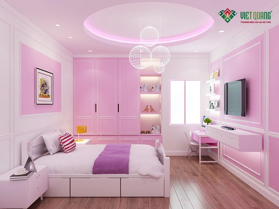 Nội thất phòng ngủ của bé gái