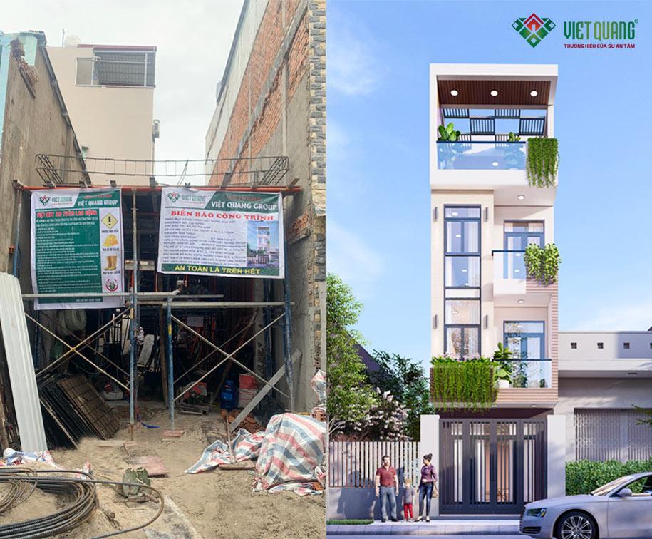 Hình ảnh biển báo công trình + bảng nôi quy an toàn lao động của Việt Quang tại công trình