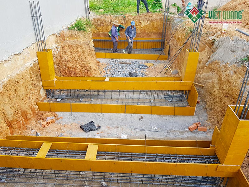 Hình ảnh hệ thống móng băng của công trình