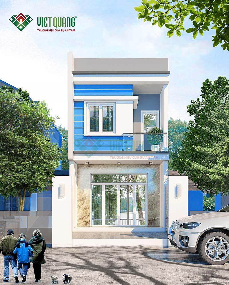 Top mẫu thiết kế nhà phố 2 tầng đẹp, hiện đại năm 2021