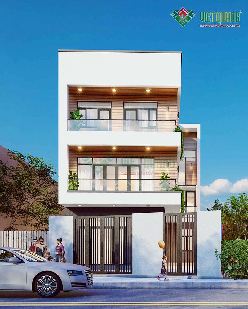 Thiết kế nhà phố 3 tầng diện tích 120m2 tại Hóc Môn