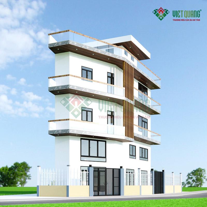 Thi công xây dựng nhà phố 5 tầng nhà anh Thành tại Bình Chánh
