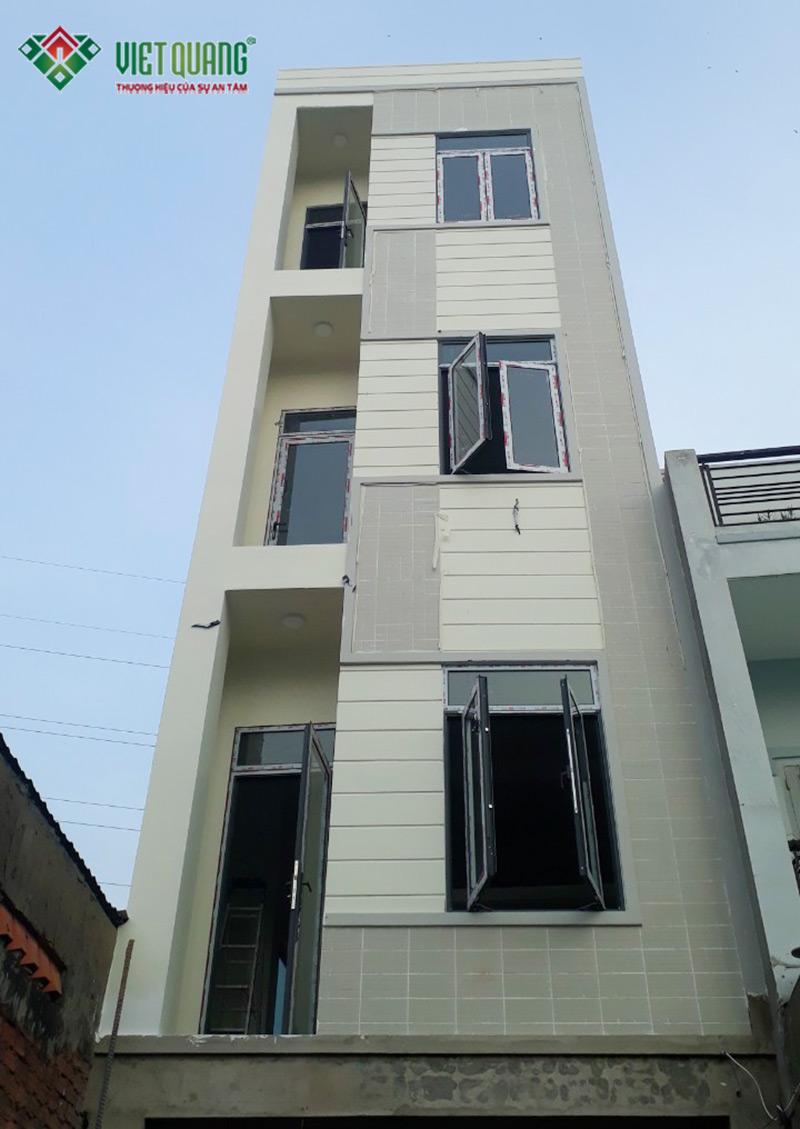 Xây nhà phố 4 tầng để ở kết hợp cho thuê chị Trang quận 9
