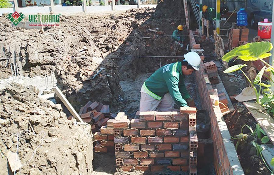 Khởi công xây dựng nhà biệt thự phố 2 tầng tại Bình Chánh