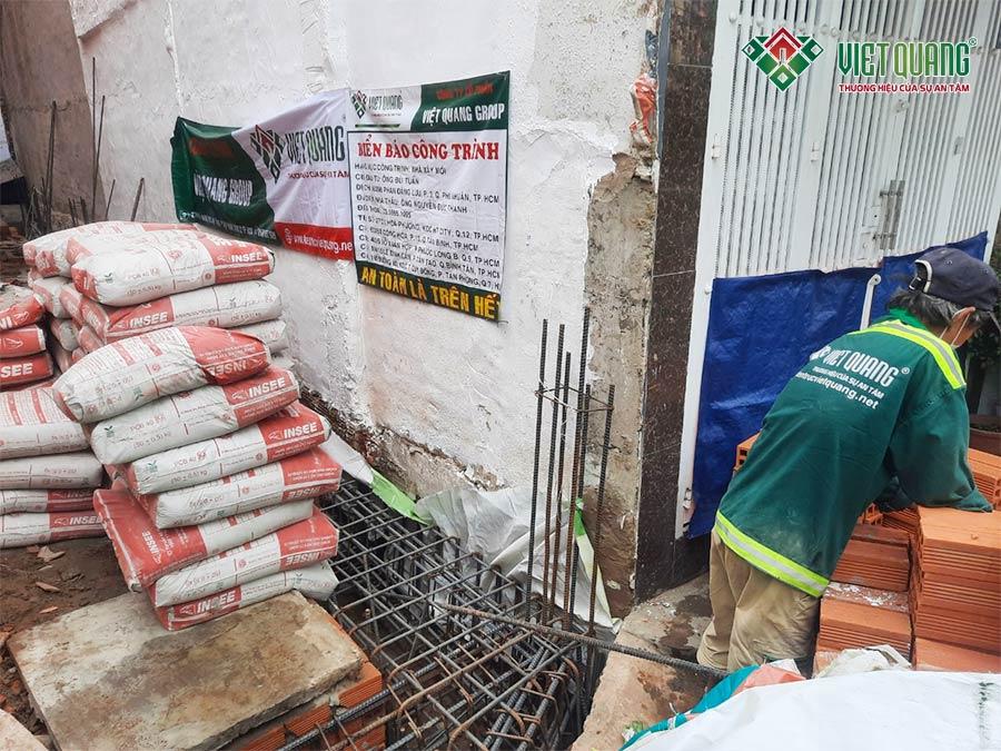 Chuẩn bị cho công tác đổ bê tông móng