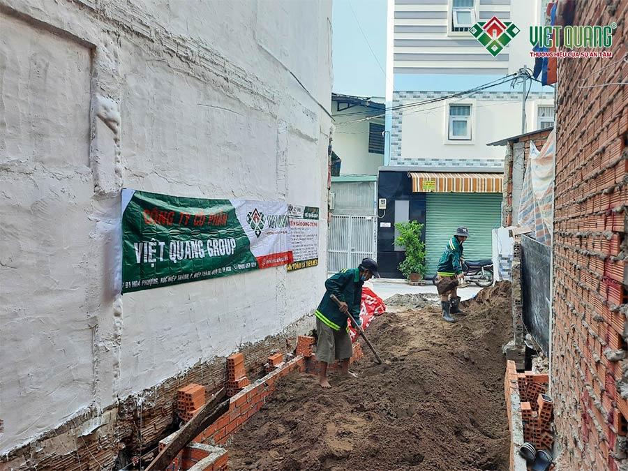 Khởi công xây dựng nhà phố 5 tầng phường 13 quận Phú Nhuận