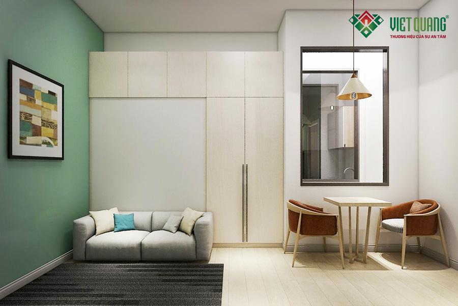 Nội thất căn hộ được thiết kế và trang trí sang trọng bố trí hài hòa, không gian sáng sủa