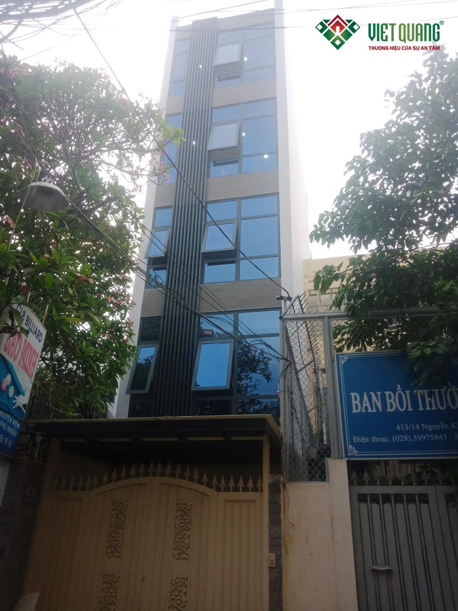 Sửa nhà nâng tầng nhà phố 6 tầng tại quận Phú Nhuận