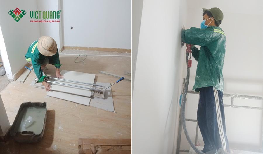 Thi công sơn nước tại công trình