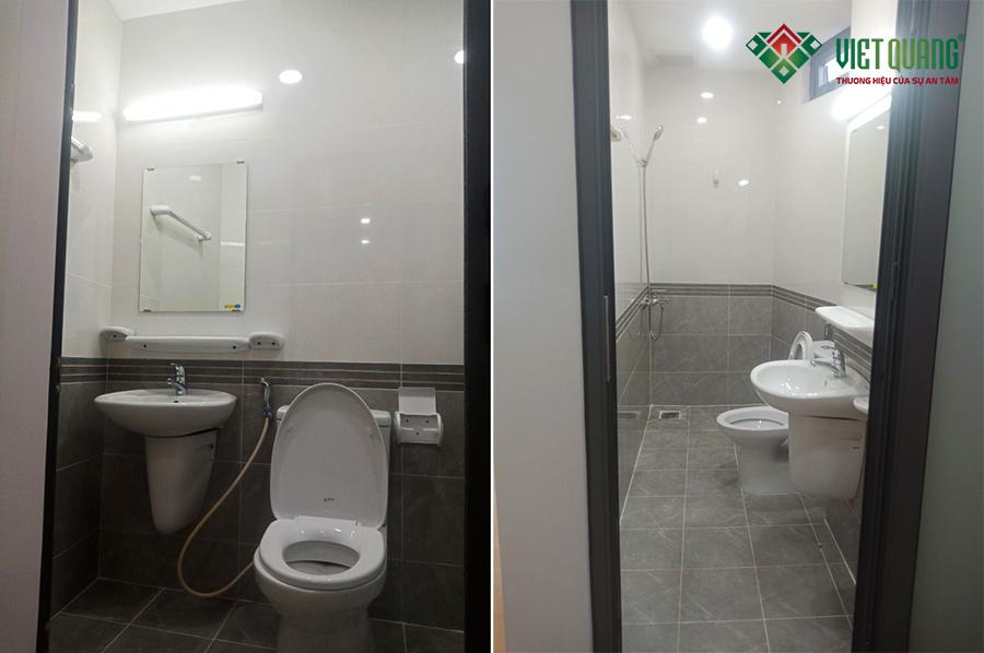Hình ảnh nội thất thiết bị vệ sinh trong căn hộ cao cấp mà Việt Quang đã thi công