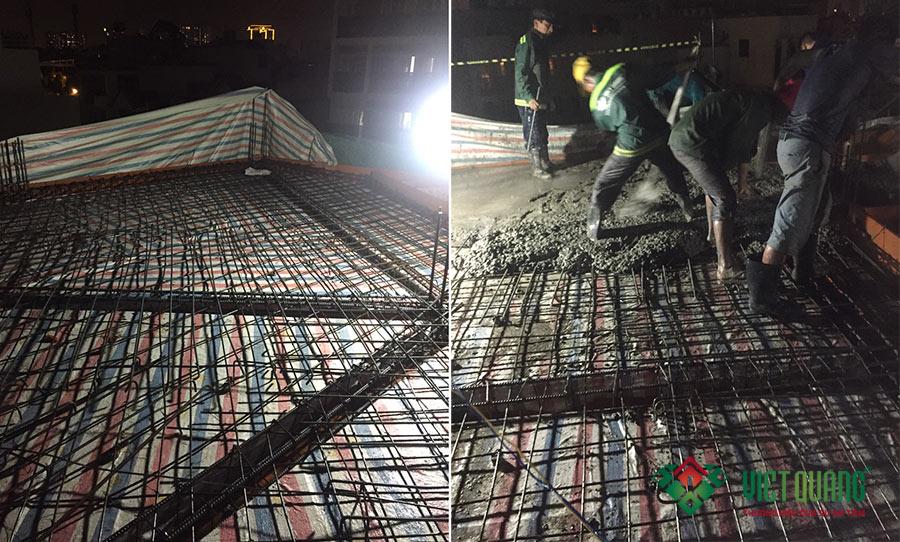 Hỉnh ảnh thép sàn xong khi thi công xong và đổ bê tông sàn các lầu