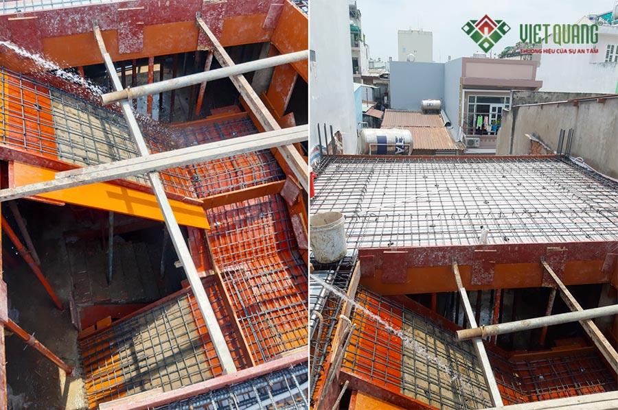 Một số hình ảnh thép sàn và thép cầu thang được công nhân thi công đẹp