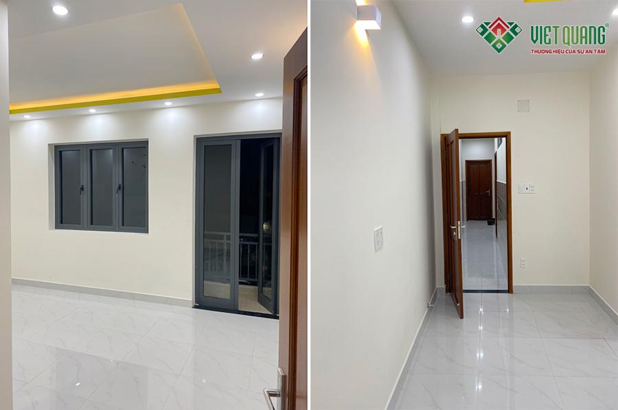 Hình ảnh nội thất hoàn thiện một phòng ngủ nhà anh xứng quận Tân Phú