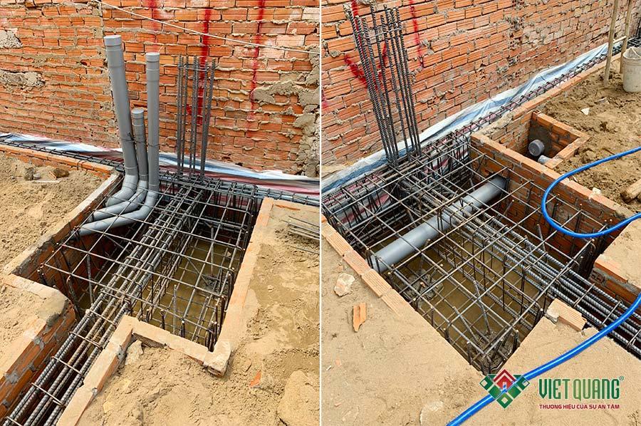 Hình ảnh thép móng cọc công trình nhà anh Xứng tại quận Tân Phú