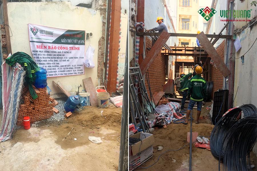 Việt Quang là công ty đã xây dựng ngôi nhà phố 4 tầng của gia đình anh Hà tại phường 19, Bình Thạnh