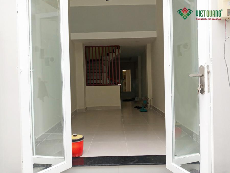 Tầng trệt công trình nhà anh Hà quận Bình Thạnh sau khi hoàn thiện