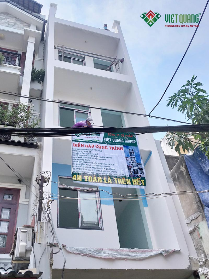 Xây nhà trọn gói 4 tầng 3.5x12m – Nhà anh Quế tại quận Tân Bình